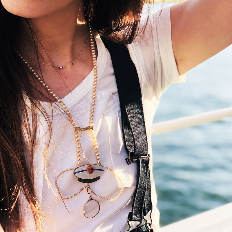 Unique jewelry necklace United as on board