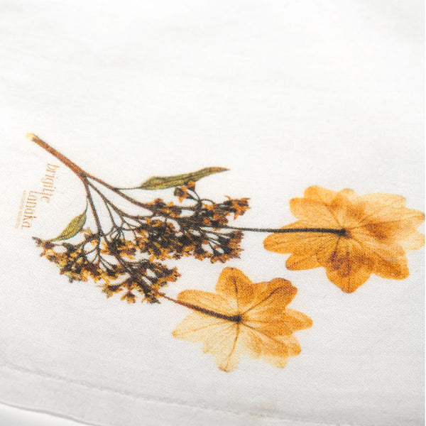 Pressed flower handkerchief