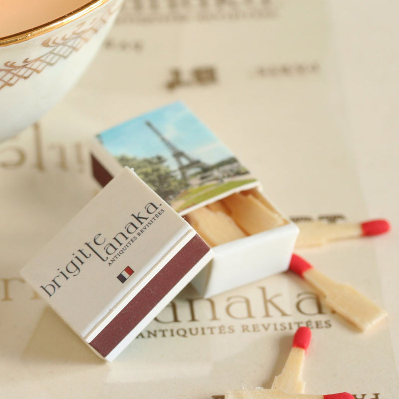 Set of 12 boxes of mini matches (with Paris monuments)