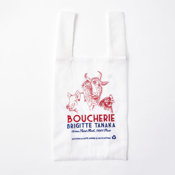 "Bag ""Butchery"" diverted in organza and embroideries"