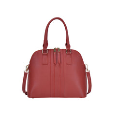 Miztique Vegan Leather Satchel and Crossbody Bag - Red Maxine
