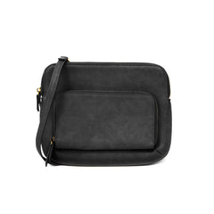 Joy Susan New Nicole Vegan Leather Crossbody Bag in distressed black
