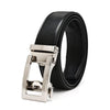 Doshi Auto Vegan Leather Belt in black with silver buckle