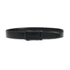 Doshi Auto Vegan Leather Belt in black with matte black buckle