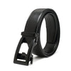 Doshi Vegan Leather Auto Belt in Black with black buckle