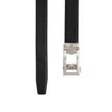 Doshi Auto Vegan leather Belt in black with a silver buckle