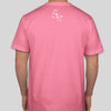 Vegan T shirt | Cow t shirt | 100% cotton light pink | back of shirt