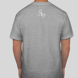 Vegan T shirt | Cow t shirt | 100% cotton light grey | Back of shirt
