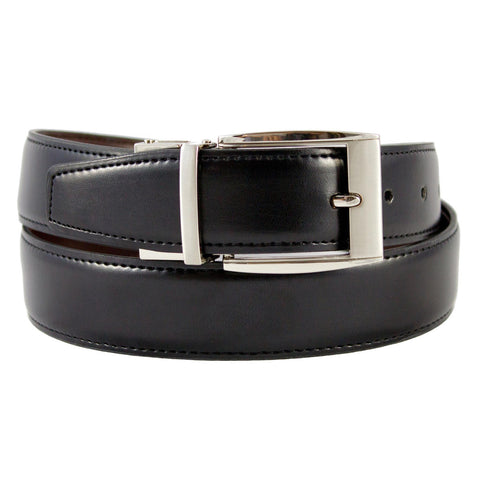 The Vegan Collection Julian Vegan Leather Reversible Belt in Black and Brown