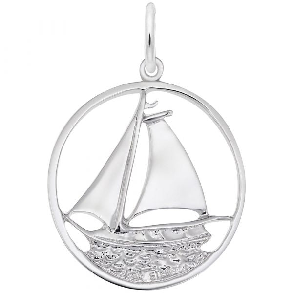 RC 0980 SAILBOAT CHARM