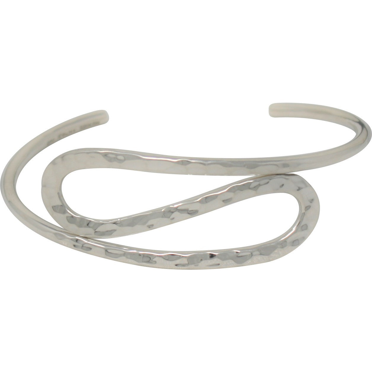 TM 15 HAMMERED DOUBLE LOOP CUFF