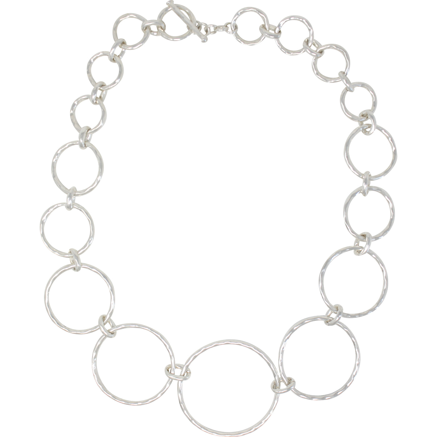 TM 101 GRADUATED OPEN CIRCLES NECKLACE