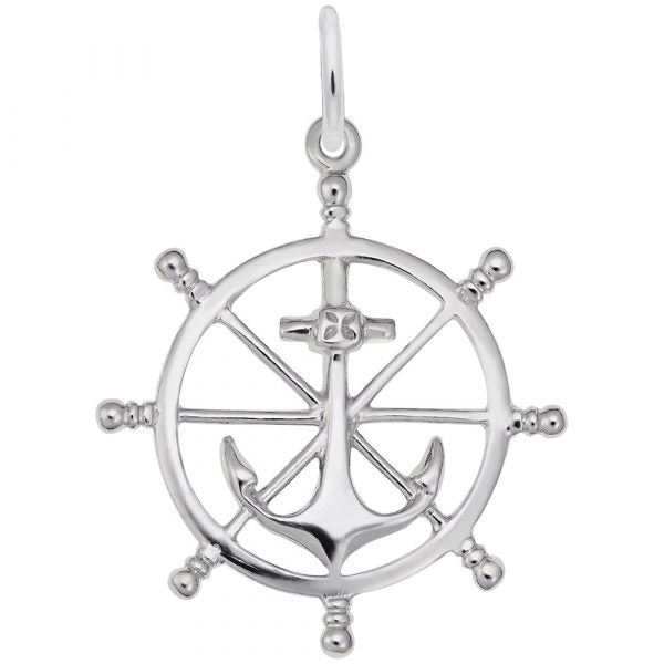 RC 1584 SHIP WHEEL CHARM