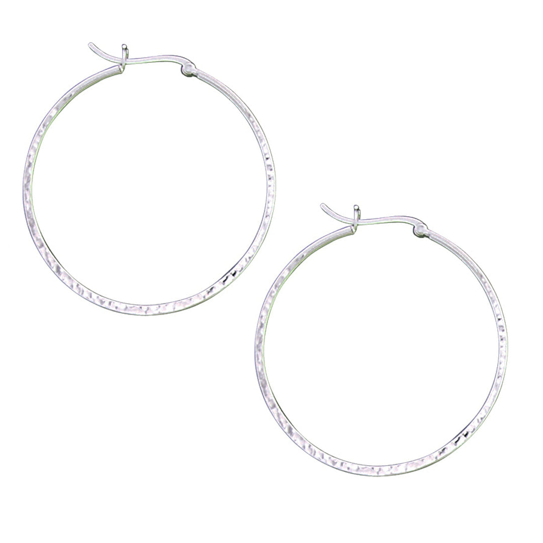 AO 22014 LARGE HALF HAMMERED HOOPS