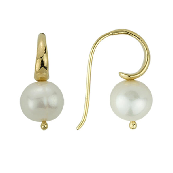 BR GOLD PEARL EARRINGS
