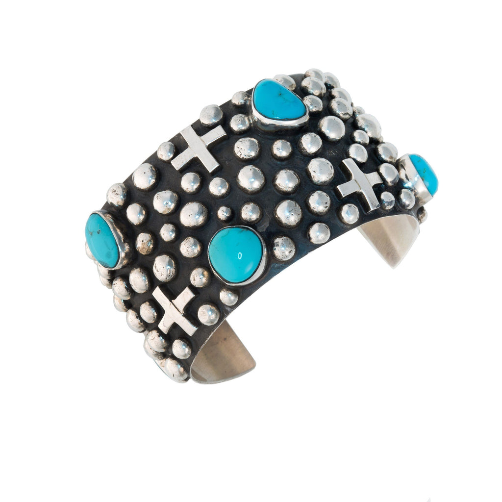 FOUR CORNERS TURQUOISE CUFF BRACELET