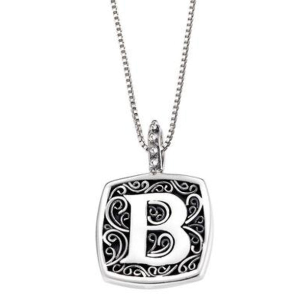 LB 59900XB B INITIAL NECKLACE