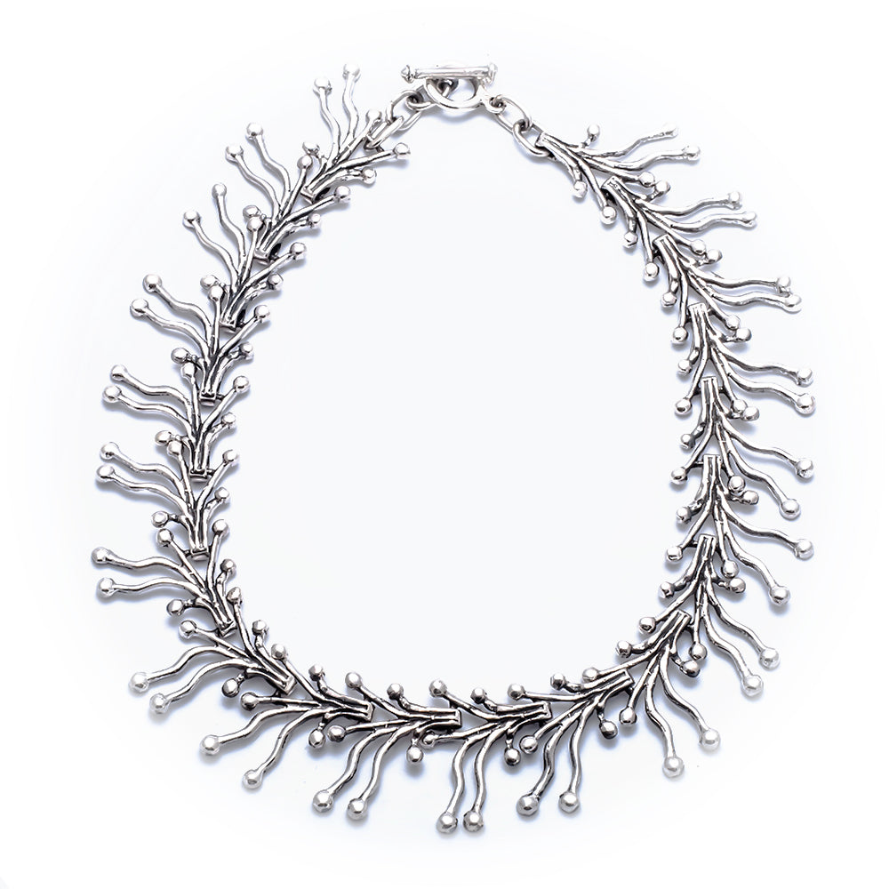 FM 118 CORAL BRANCH LINK NECKLACE