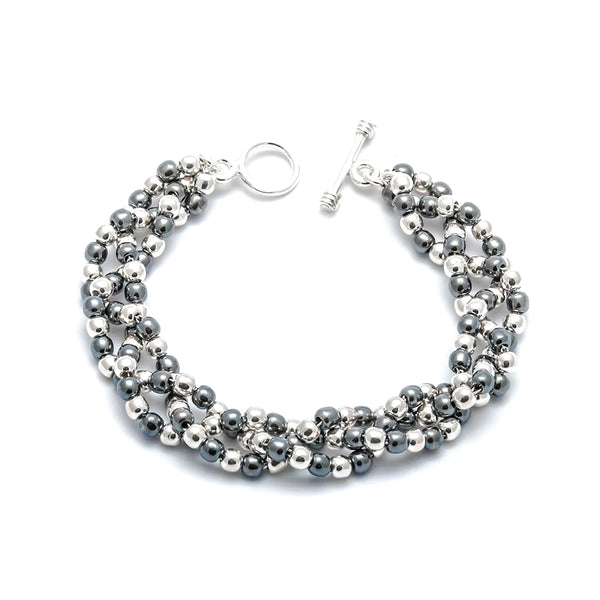 TM 32 OXIDIZED BEADED BRACELET