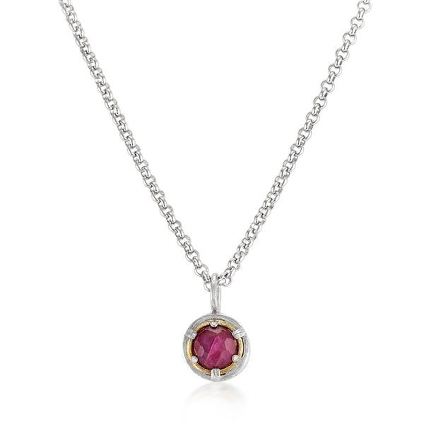 AT 022AT-IR SMALL RUBY NECKLACE