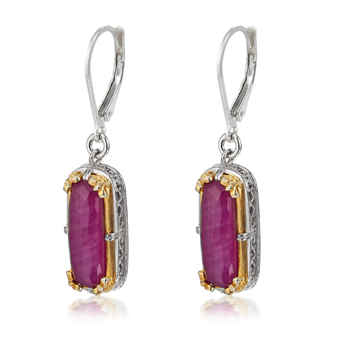 AT 804CT RUBY RECTANGLE EARRINGS