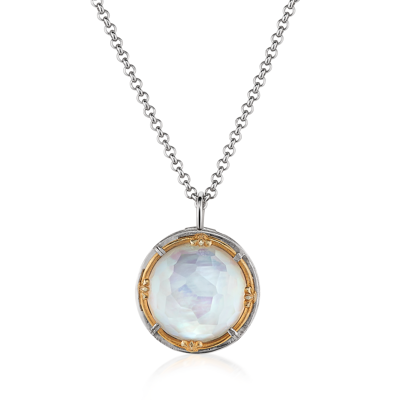 AT 817AT-MOTHER OF PEARL NECKLACE
