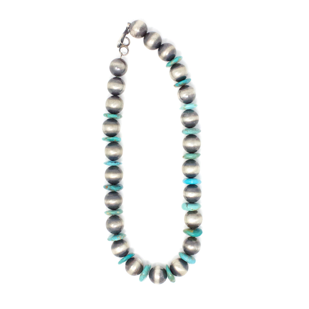 CBNB LARGE TURQUOISE & BEAD NECKLACE