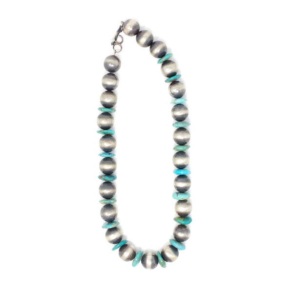 CHIMNEY BUTTE LARGE TURQUOISE & BEAD NECKLACE