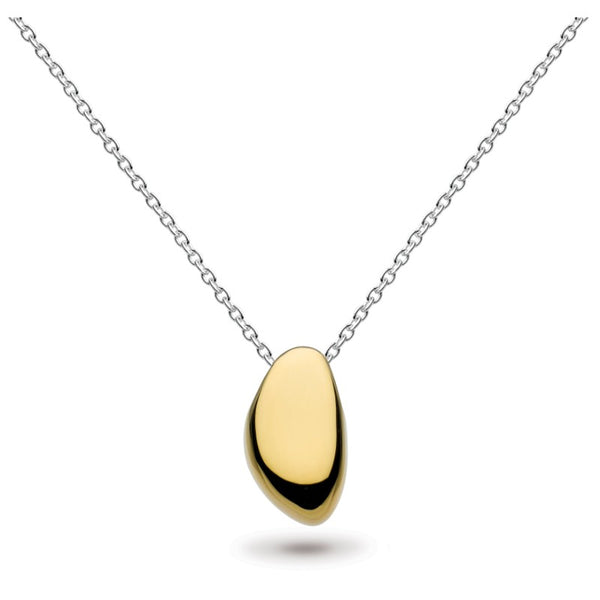 KH 90PUGD016 TWO TONE NUGGET NECKLACE