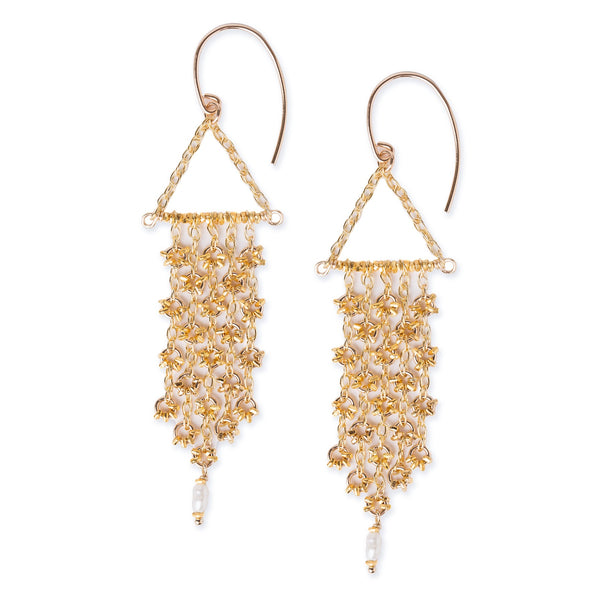 KW ASA GOLD FRINGE EARRINGS