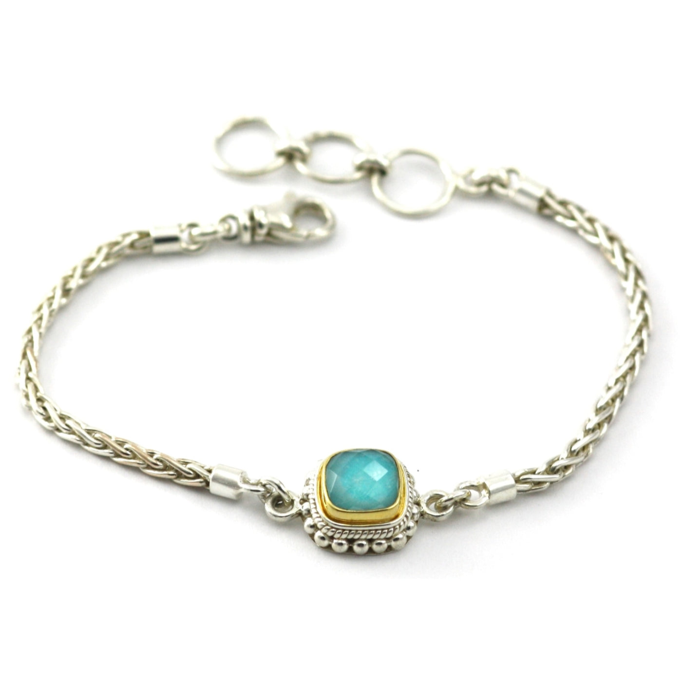 ID B216TQFG TURQUOISE AND GOLD BRACELET