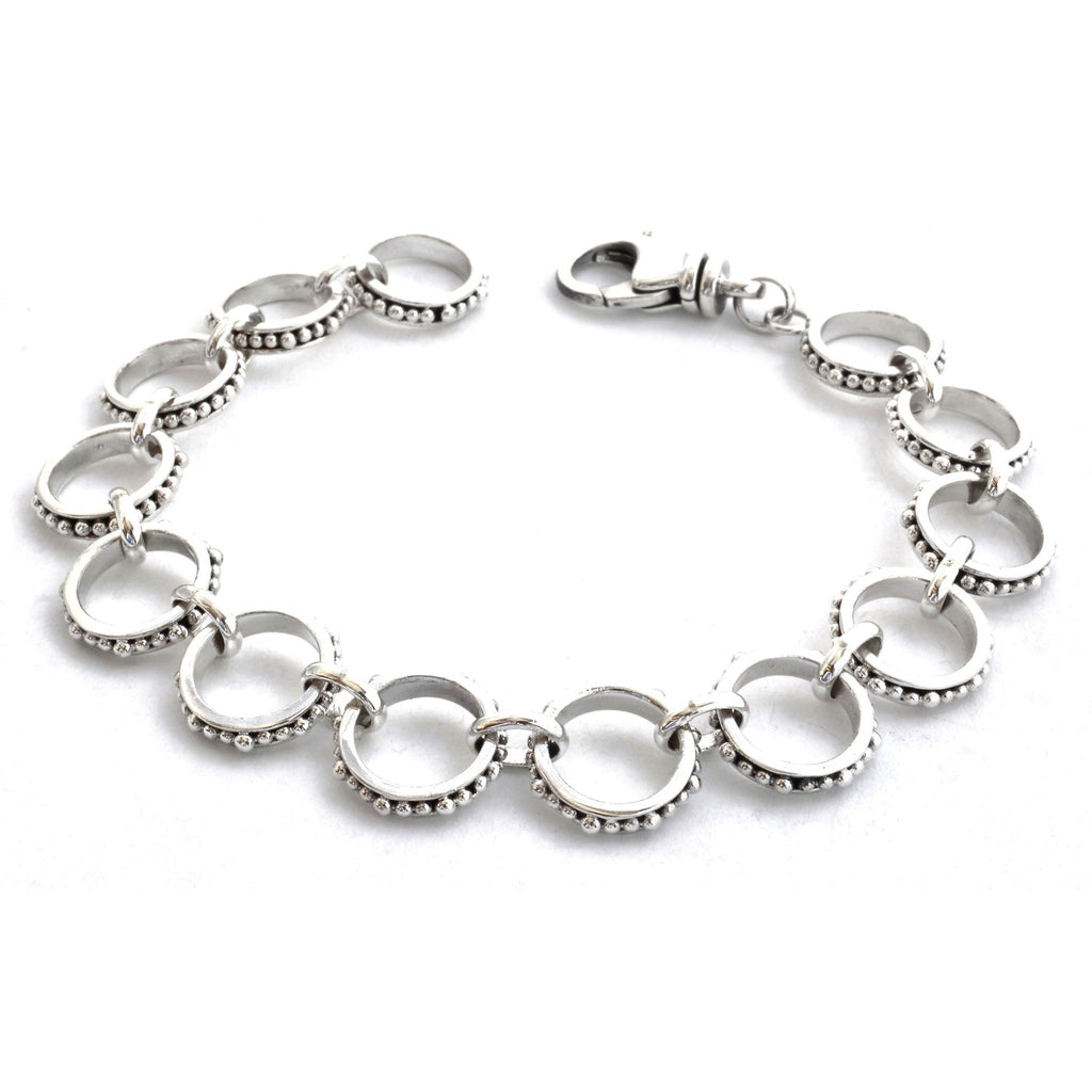 ID B300 DOTTED CIRCLE LINK BRACELET