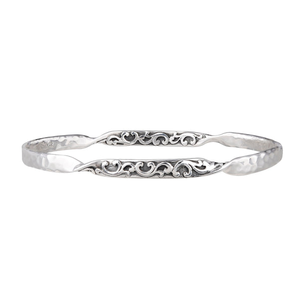 JD B63840 TWISTED FILIGREE BANGLE