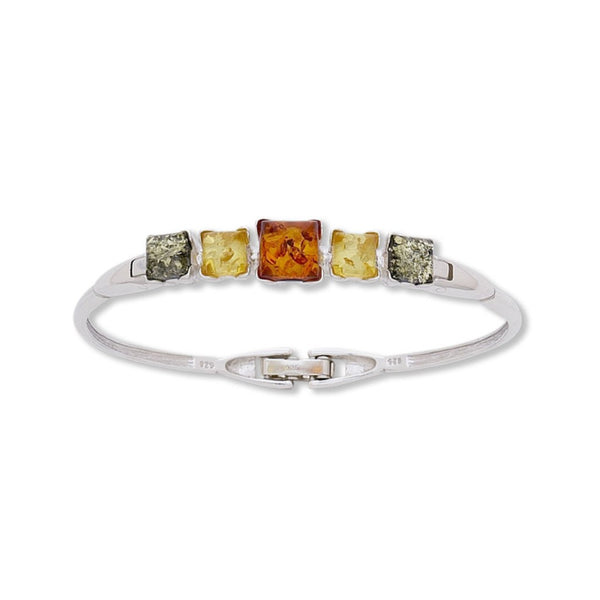 BS 1241M MULTI AMBER SQUARE BANGLE