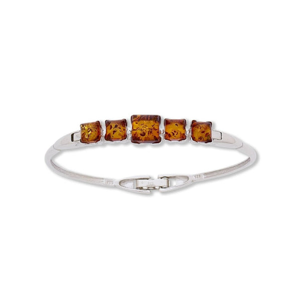 BS BF1241 HONEY AMBER SQUARE BANGLE