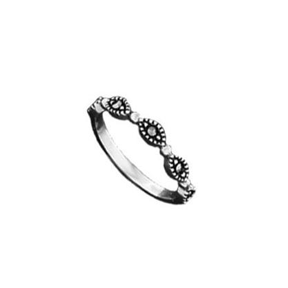 BO R678 MARCASITE BAND RING