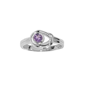 BO RF474 LOOPED AMETHYST RING