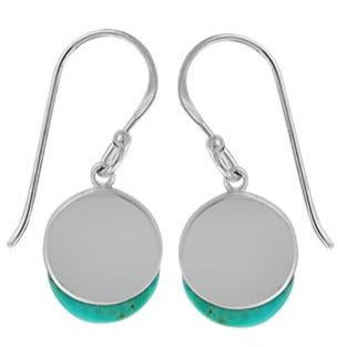 BO CDA2284 TURQUOISE DISC EARRINGS