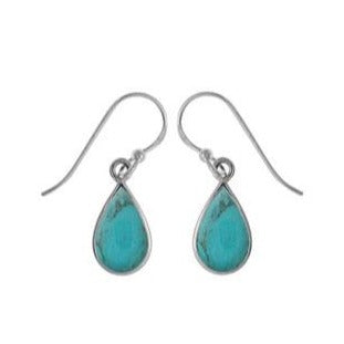 BO CDB4142T SMALL TURQUOISE TEAR DROP EARRINGS