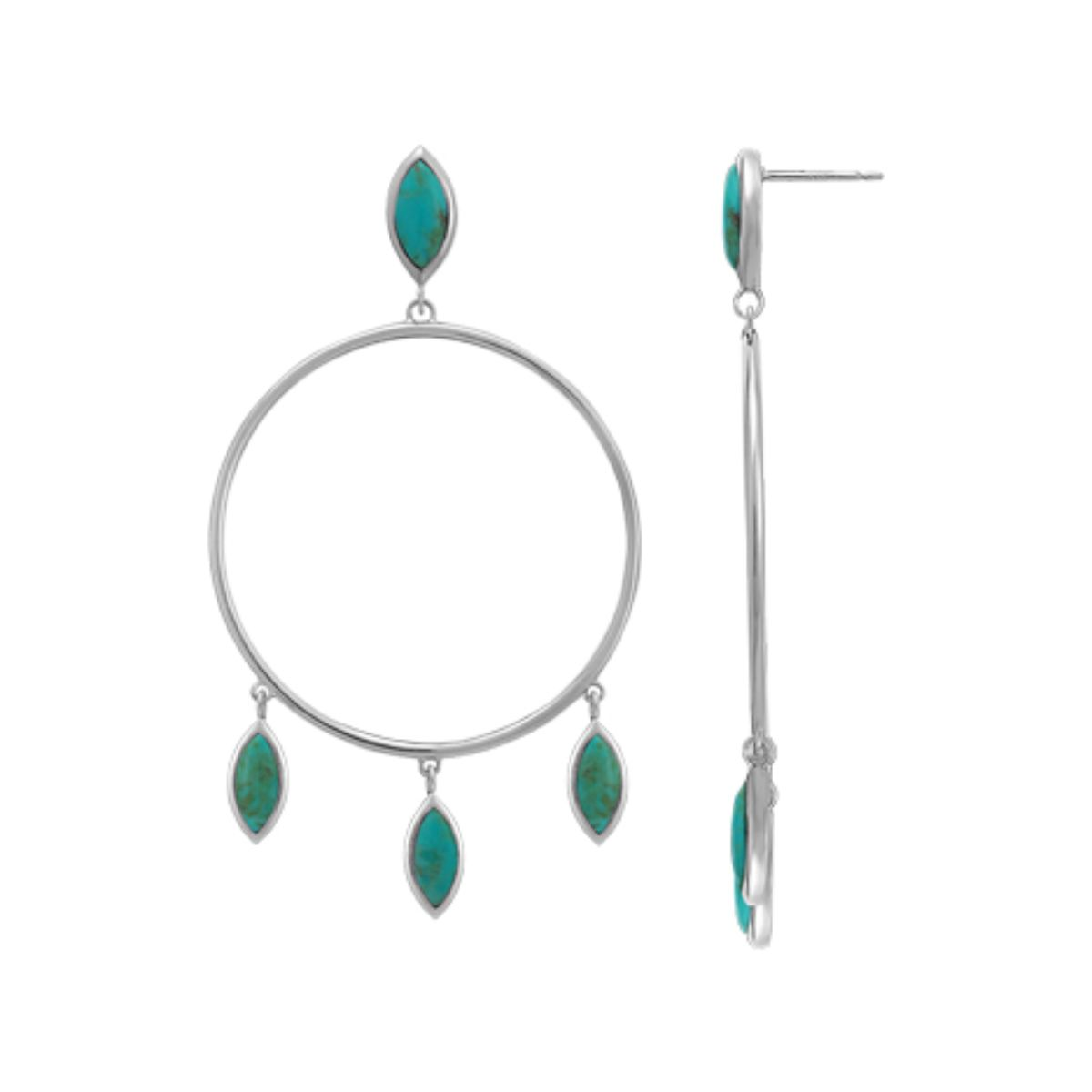 BO CDB4471 LARGE TURQUOISE DANGLE