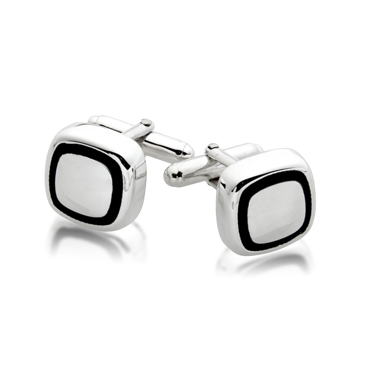 ZN CL431 OXIDIZED SQUARE CUFF LINK
