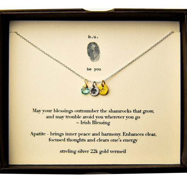 BU E005A IRISH BLESSINGS NECKLACE