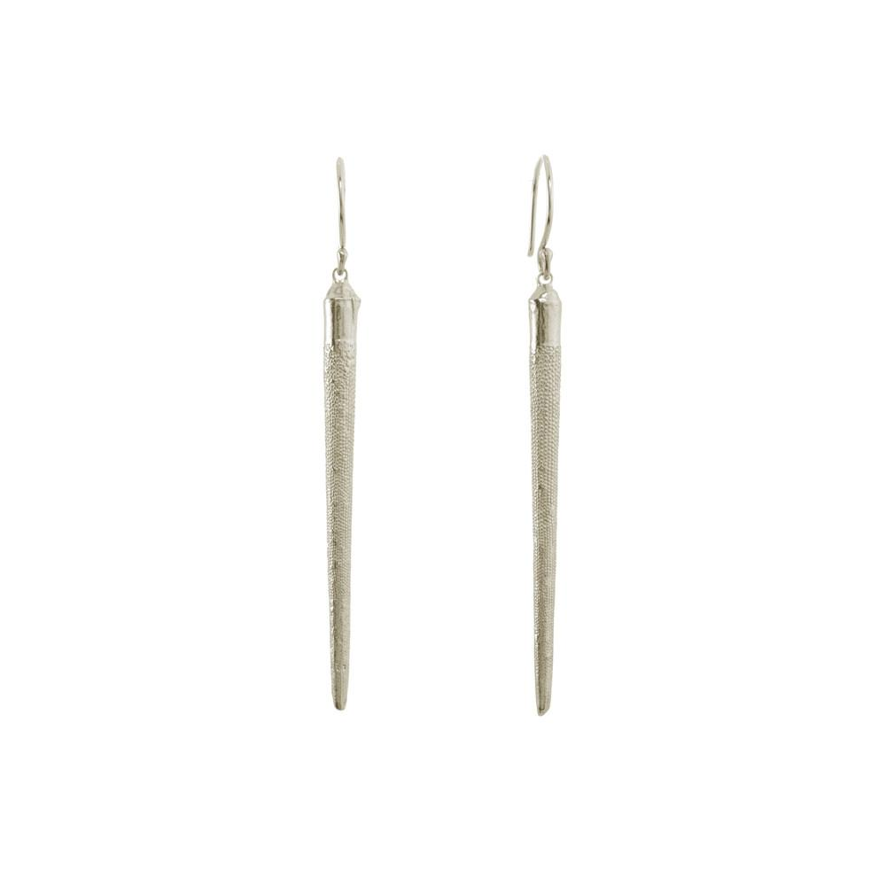 CW E1038S SEA URCHIN SPINE DROP EARRINGS