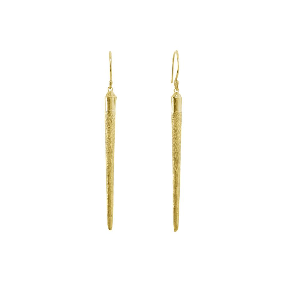 CW E1038V GOLD URCHIN SPINE EARRINGS
