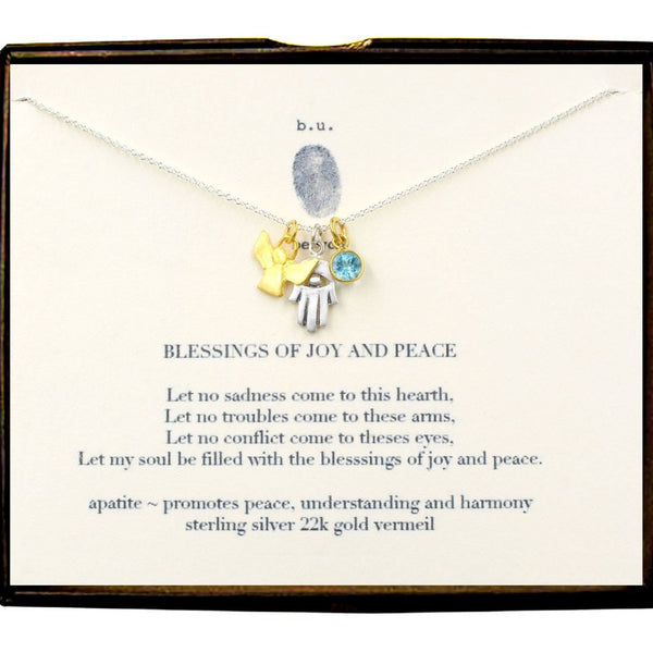 BU E111ACF BLESSINGS JOY & PEACE NECKLACE