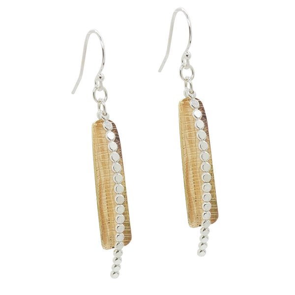 DRD E1462MG TWO TONE BEADED TRAP EARRING