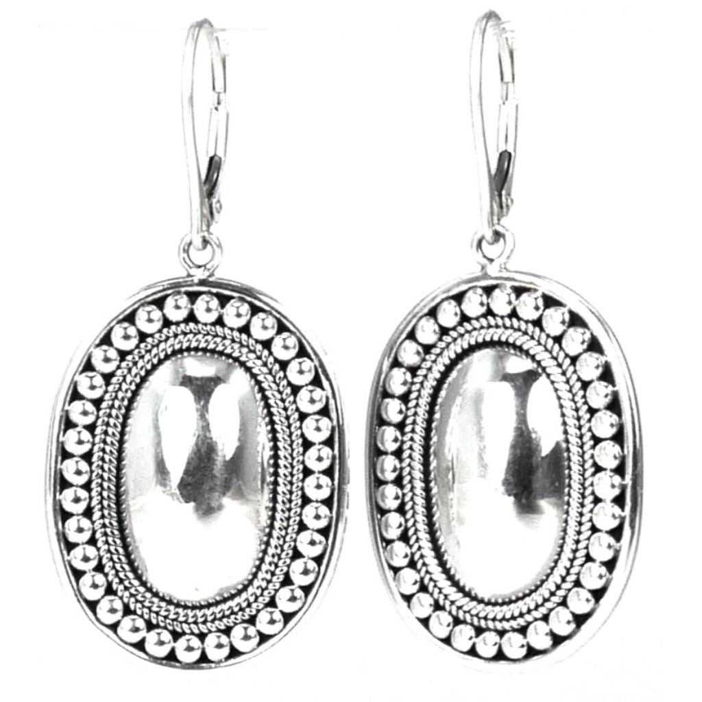 ID E160 OVAL BEADED EARRINGS