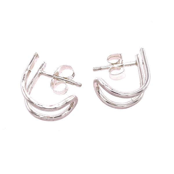 DRD E1758S DOUBLE HUGGIE POST EARRINGS