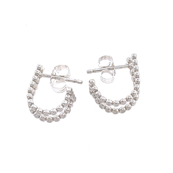 DRD E1759S BEADED HUGGIE POST EARRINGS