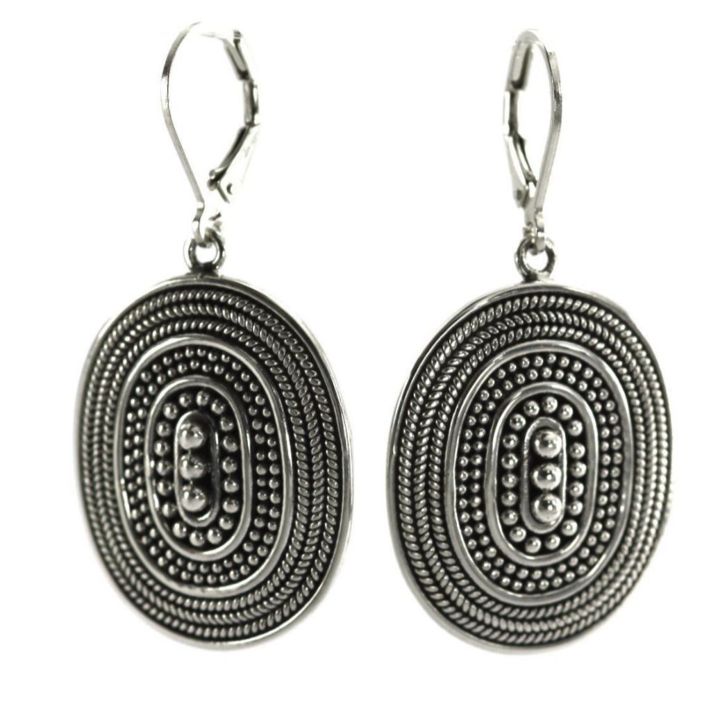 ID E176 BEADED ROPE EARRINGS
